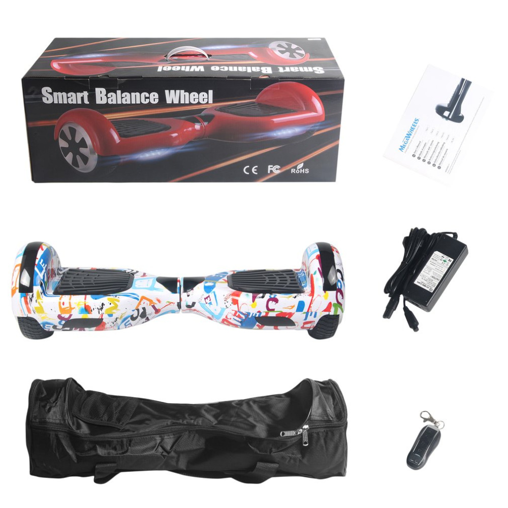 Scooter électrique avec haut-parleur Bluetooth 6.5 pouces auto-équilibre électrique Hoverboard deux roues planche à roulettes électrique avec sac à distance