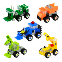 SLPF Children Education City Building DIY Assembled Building Blocks Brick Excavation Bulldozer Toys Gift Compatible Legoing F24(China)