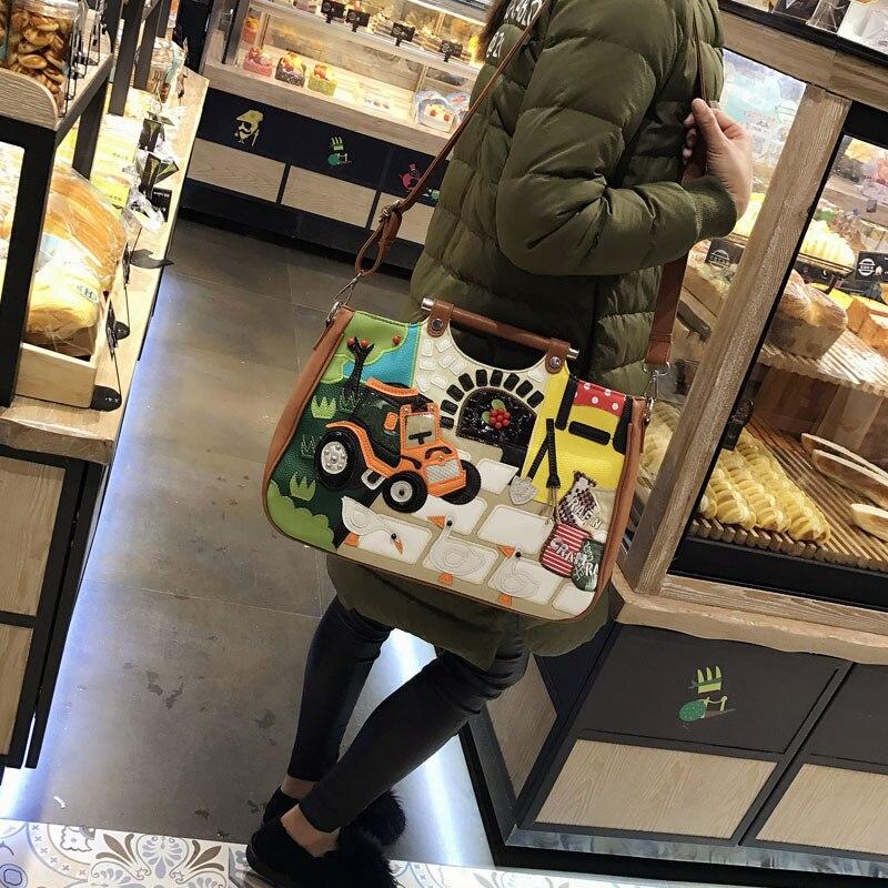 Paquet 2 Américaine Sacs De Sac 1 Casual Mode La Nouvelle Couture Européenne Personnalité 3 Main Messenger À Et 2018 Broderie wqYUZCw