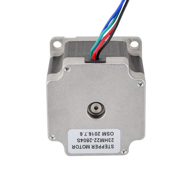 Nema 23 Stepper Motor 4 Wires Bipolar 0.9 Degree 1.26Nm (178.4oz.in) 2.8A 57x57x56mm CNC Router Kits