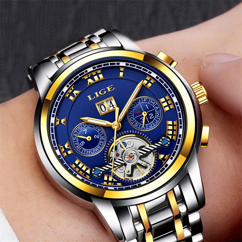 LUCHT Merk Heren horloges Automatisch mechanisch horloge tourbillon - Herenhorloges - Foto 4