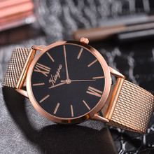 Rose Gold Sliver Mesh Stainless Steel Dail Watches Women Top