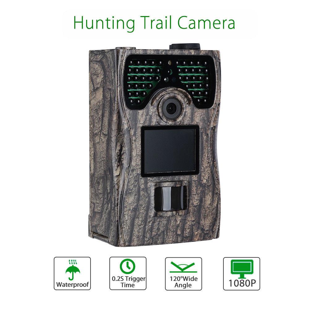 BOBLOV Wildlife Hunting Trail Animal 12MP 1080P 2.0LCD Digital Animal Infrared Security Camera Remote Control IP55 Night Vision 2 lcd hd 1080p mms digital infrared
