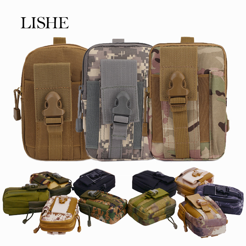 Oxford Phone Waist Bag Pack Multi-Function Belt Pouch Camo Bags For iphone Samsung Xiaomi Huawei Mobile Phone Wallet Travel Case tote bag