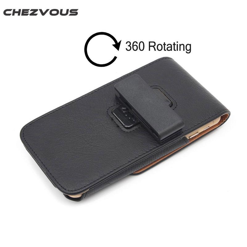 CHEZVOUS 360 Rotasi Belt Clip Pouch Case untuk iPhone 7 6 6 S - Aksesori dan suku cadang ponsel - Foto 3