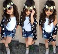 Baby girl clothing sets summer fashion 3pcs  meninas vest + blouse + jeans toddler girl clothing suit kids clothes