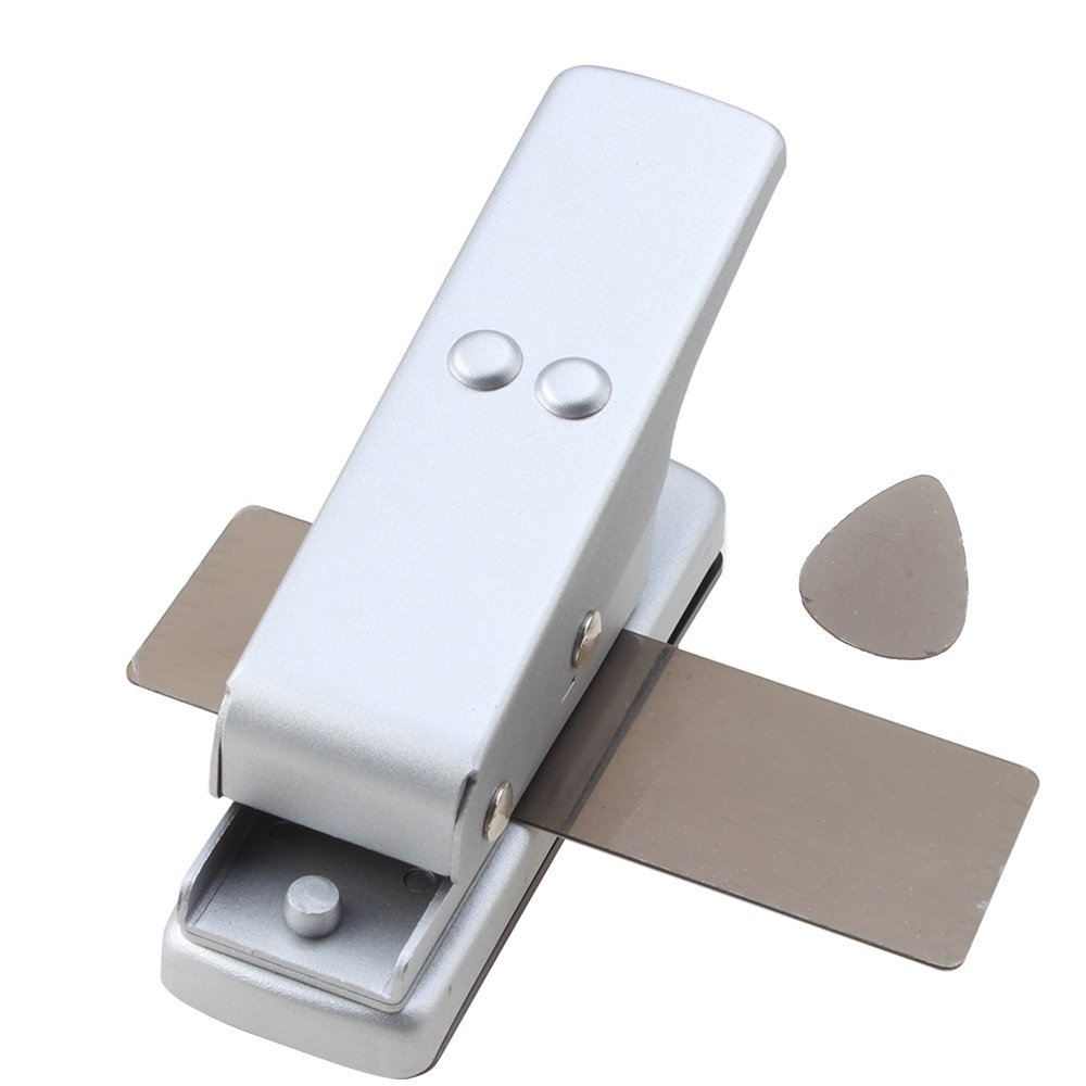 MSOR-Professional Guitar Plectrum Punch Picks Maker Card Cutter DIY Own Silver