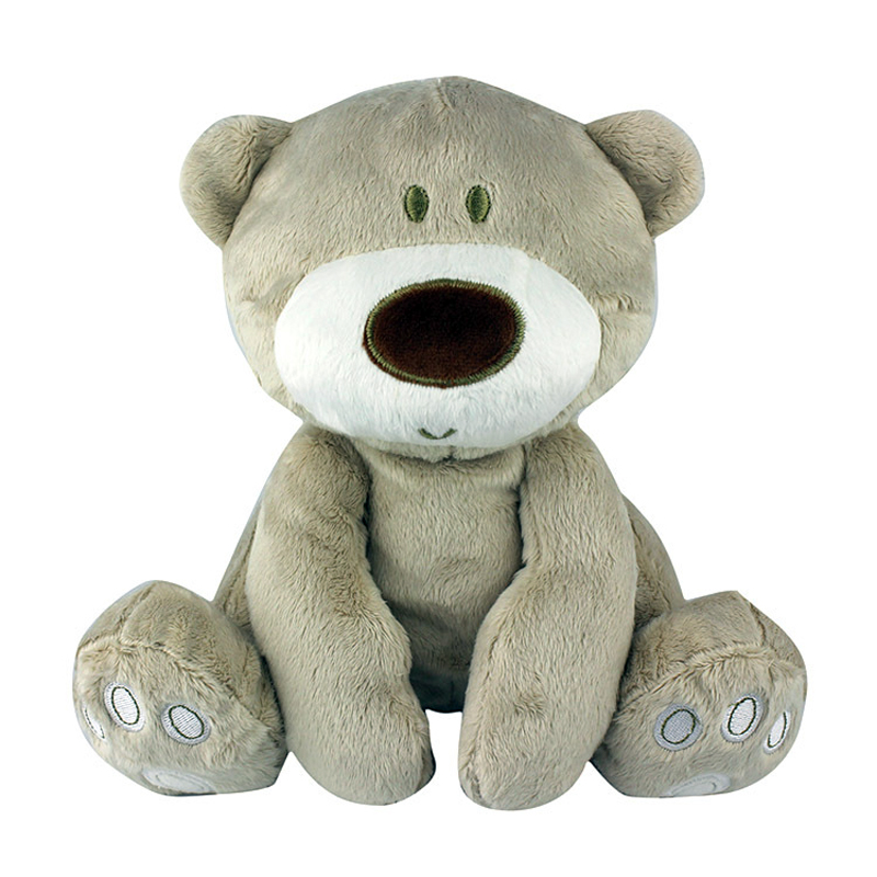 პატარა დათვი ჩახუტება 0 -2 წლის ბავშვთა სათამაშოები Plush Toy Bear with Bell Baby საგანმანათლებლო სათამაშოებით ბავშვის საჩუქრები
