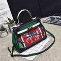 High quality luxury women leather hand bag graffiti printing shoulder bags handbags famous brand female messenger bags designer