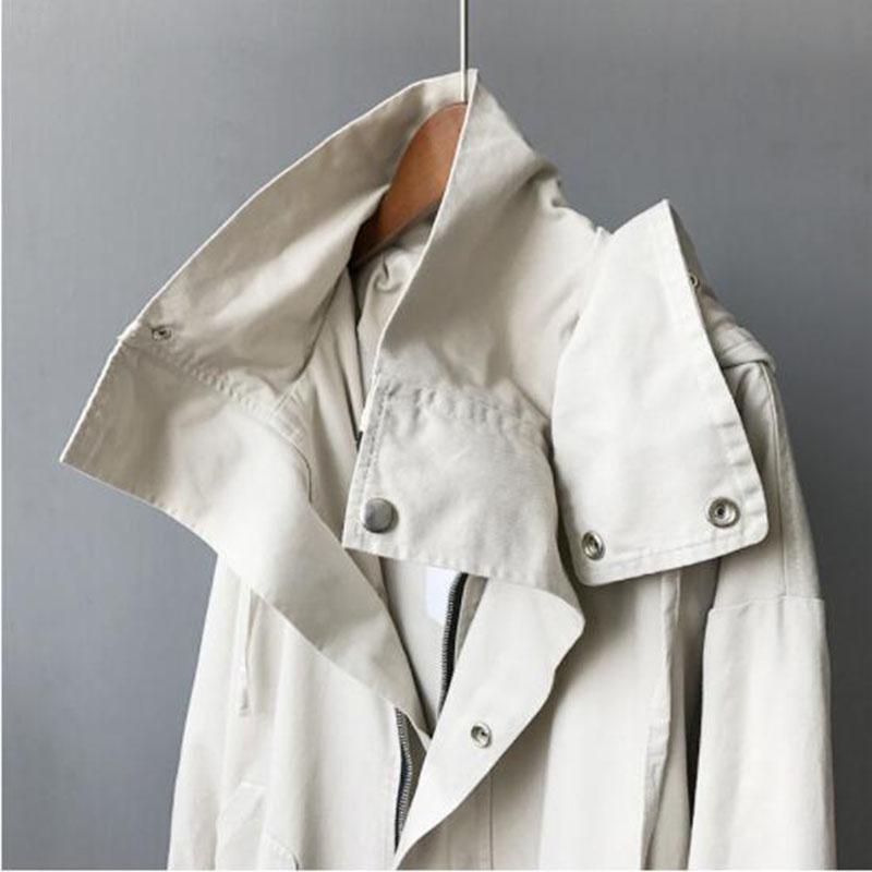 Manteau noir 2018 Lâche Sauvage À Beige vent camel Pour Printemps Taille Coupe Mode La Capuchon Femmes Tranchée Automne Coton Plus wgqFXrgU
