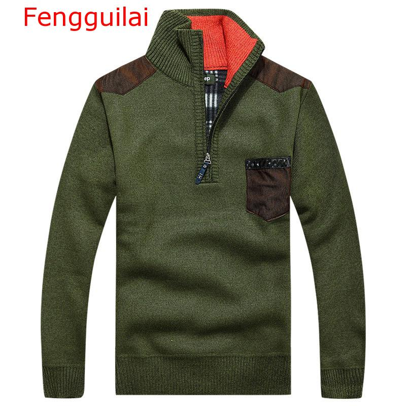 Fengguilai Men Military Sweater Knitted Pullovers Homme Winter Casual Outwear M-3XL