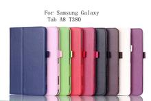 Smart Folio Sleep Wake Up Cover For Samsung Galaxy Tab A8 T380 T385 SM T385 Tablet