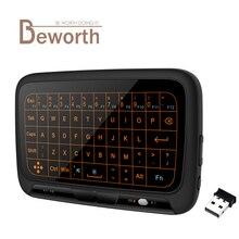 H18 + 2,4 ГГц Беспроводной мини клавиатура Полная сенсорная панель с подсветкой Клавиатура большая Сенсорная панель Дистанционное Управление для Smart TV Android TV Box