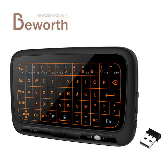 H18+ 2.4GHz Wireless Mini Keyboard Full Touchpad Backlight Keyboard Large Touch Pad Remote Control for Smart TV Android TV Box