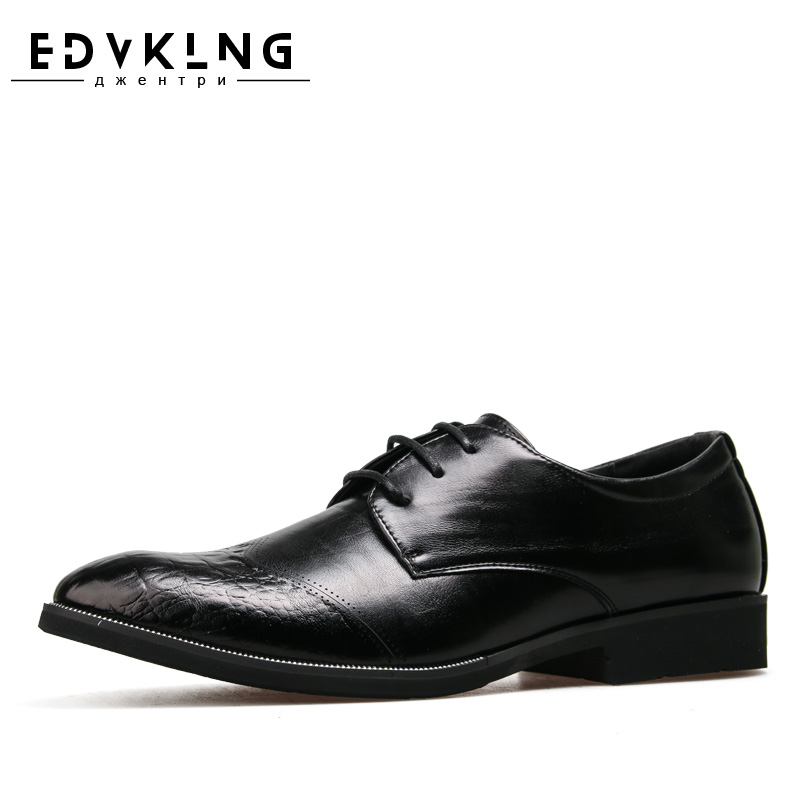 Brand Men Brogue Shoes EDVKLNG Handmade casual comfortable classic gentleman leather shoes #ZY58851RU