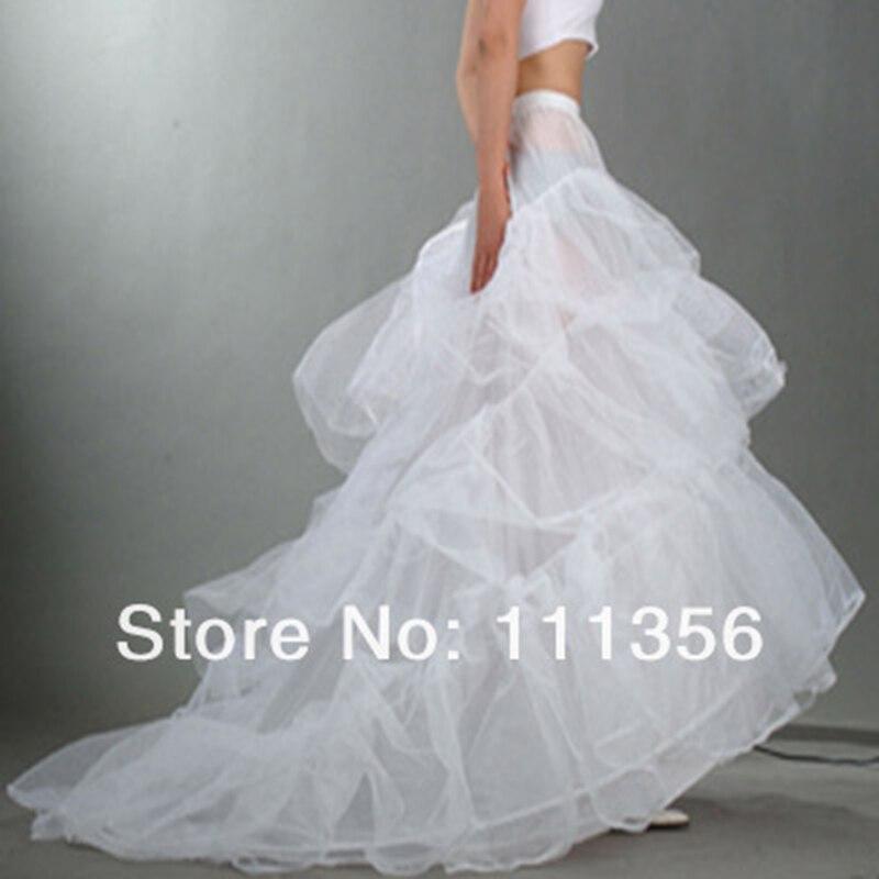 2 Hoop Train White Black PBridal etticoat Wedding Crinolines Dress Slips Ladies Underskirt