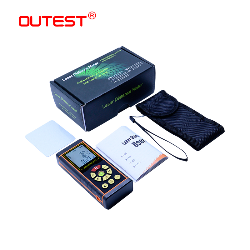 OUTEST digital distance meter laser 40M/60M/80M/100M rangefinder laser Roulette ruler trena tape with electronic level