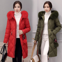 NAGODO Winter Long Coat 2017 New Korean Slim Female Padded Parka Jacket Cotton Hooded Ukraine Women