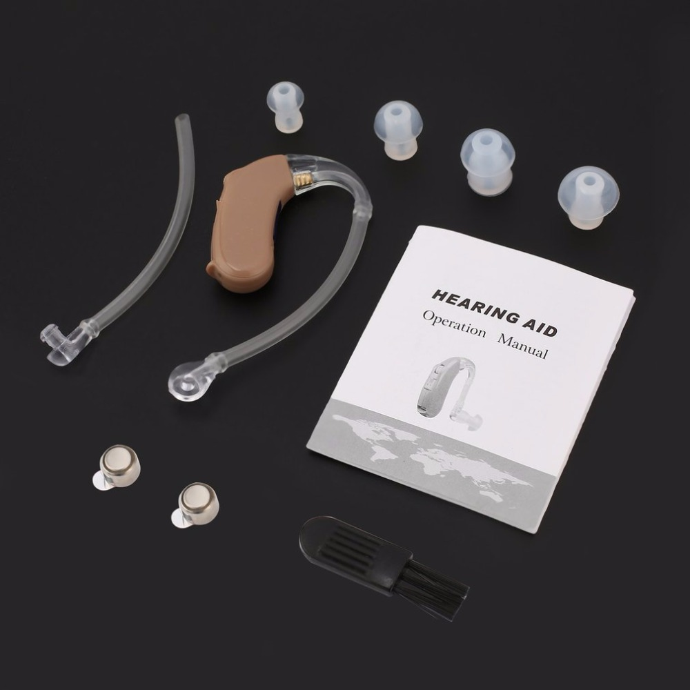 4 different EarPlug Ear Hearing Aid Kit Behind Ear Hearing Sound Amplifier Sound Enhancer With Earplug Connection pipe F-135B personal sound amplifier high quality competitive price hearing aid deaf aid behind ear hearing aids s 188 free dropshipping