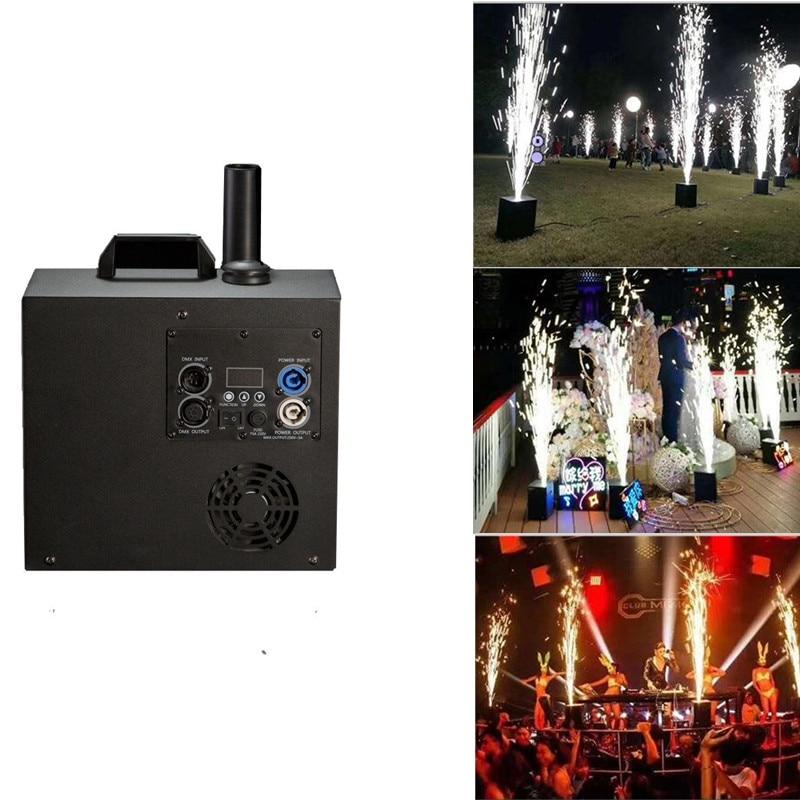Wedding Stage Fountain Cold Spark Machine Flame LED Stage Effect Light 400W DMX Sparkler Firework Machine Smart Fireworks Salute