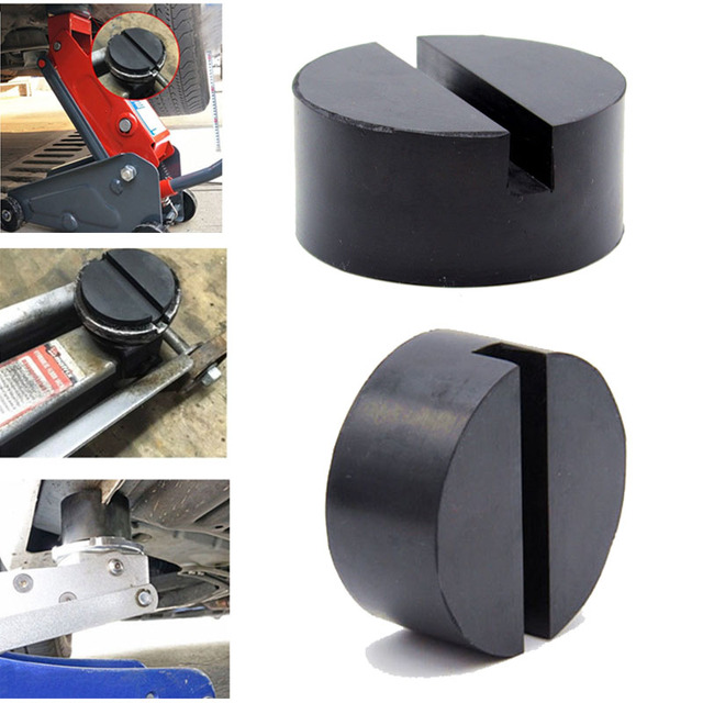 NEW Jacking Pad Vehicle Universal Floor Jack Disk Pad Adapter Rubber Blanket for Pinch Weld Side Rail Stand Black Round Shape