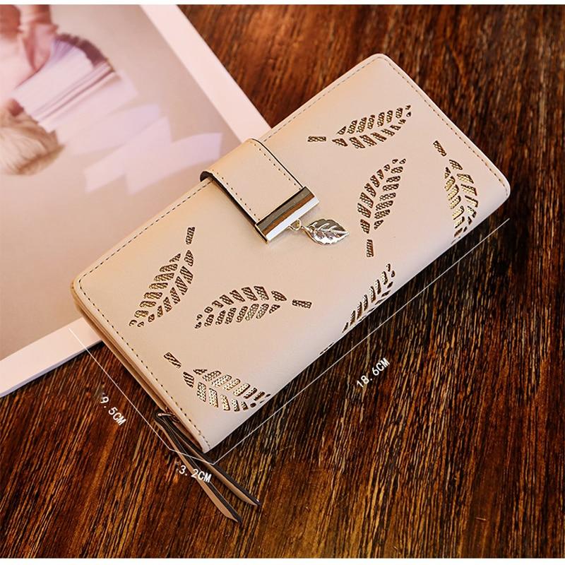 2018Women Wallet Leather Card Mynthållare Pengar Clip Långtelefon - Plånböcker - Foto 3