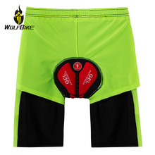 WOSAWE Cycling Shorts Men Gel Pad Underwear Mountain Bike Short Pants Waterproof Breathable Running Sports Bicycle MTB Shorts недорого