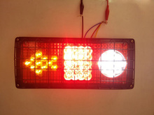 2Pcs 33LED Car Rear Lamp 24V Truck Trailer Tail Lights Stop Light Turn Signal Reverse