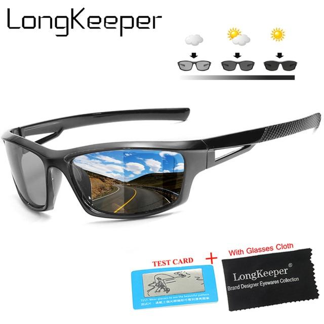 7bf705500c1 Polarized Photochromic Sunglasses Mens Outdoor Sports Fishing Sunglasses  Transition Driving Sunglasses shades Men Male