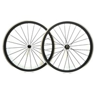Freeshipping By EMS Alloy Brake Surface Carbon Wheel 38mm Depth Climbing Carbon Wheelset 23mm Width UD