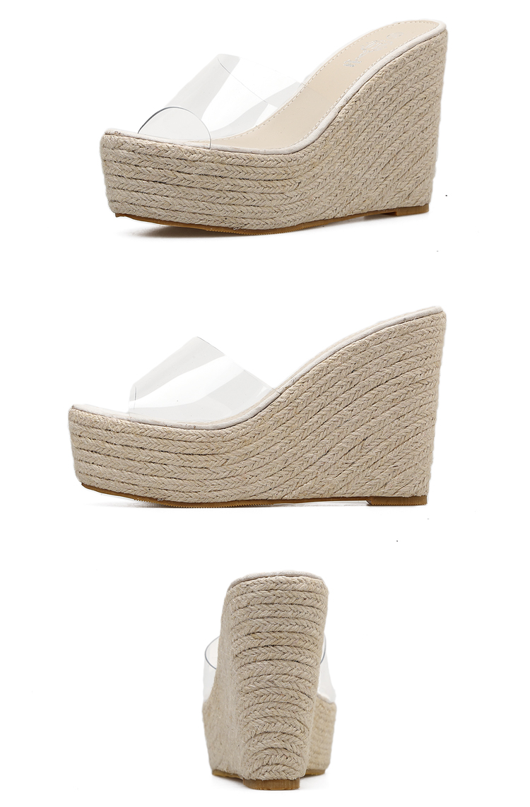 HTB1hjPwe8mWBuNkSndVq6AsApXaU Eilyken 2019 New Summer PVC Jelly Sandals slippers Shoes Casual Sexy Wedges 11.5CM Women's Sandals slippers size 34-40