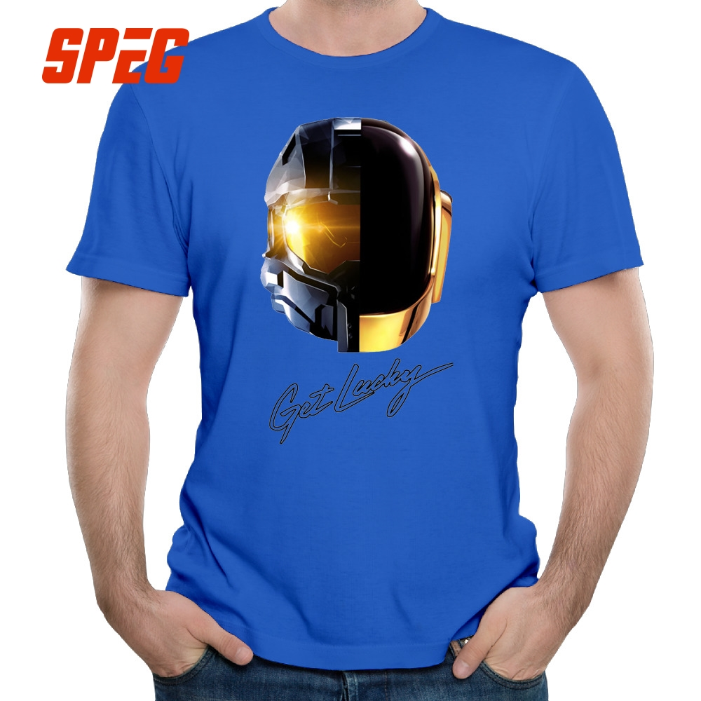 Tee Camisetas Masculina Halo And Daft Punk Mashup Homme O Neck Short Sleeve  Tee Shirts Lowest Price Male Men Shirts-in T-Shirts from Men's Clothing &