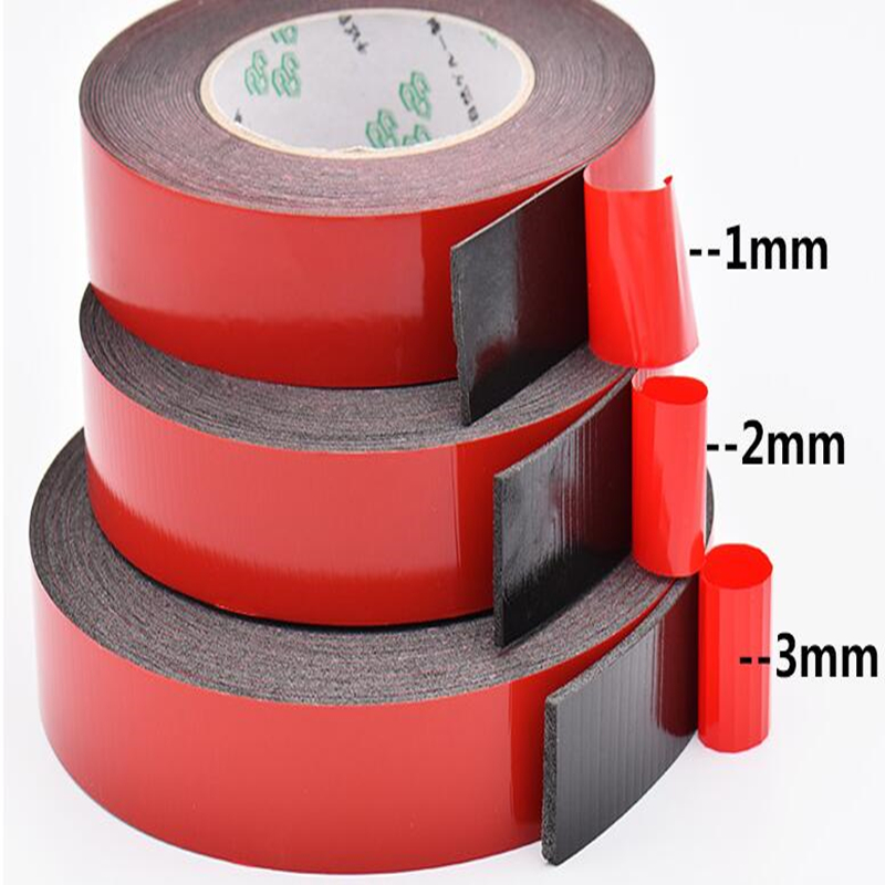 SZBFT 1-3mm Thickness Black Super Strong Self Adhesive Foam Car Trim Body Double Sided Tape Mobile Phone Dust-proof Tape