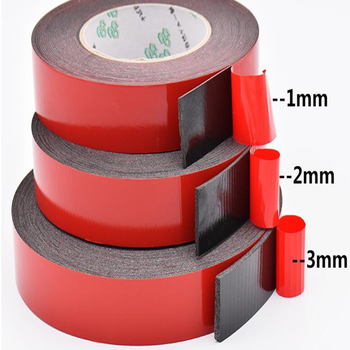 SZBFT 1-3mm thickness Black Super Strong Self Adhesive Foam Car Double Sided Tape Mobile phone dust-proof tape 5m super strong double side mounting tape sticky foam self adhesive pad