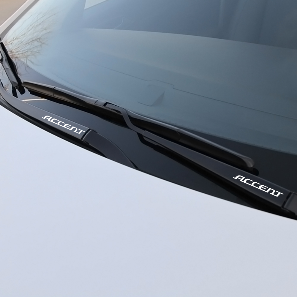 Image 2 - Car Window Wiper Windscreen Brush Mask Stickers Auto Reflective Decal Sport Window Decoration For Hyundai Accent Car Accessories-in Car Stickers from Automobiles & Motorcycles