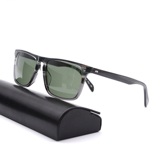 Image 2 - Square Sunglasses Women Vintage Sunglasses Men  Acetate Frame with Glass Lenses  OV5189 Bemardo Sun Glasses Retro Sunglasses