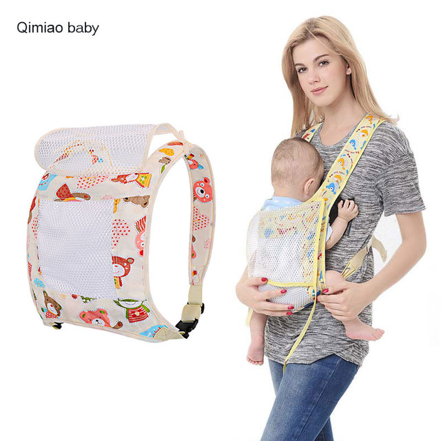 22c18e9f718 Summer Baby Carrier Breathable Mesh Style Sling Cotton Baby Wrap Backpacks  Mom Nursing Cover Infant Hipseat