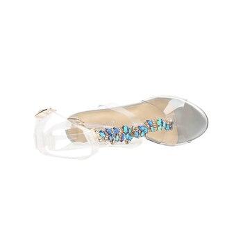 ясно желе обувь | AIYKAZYSDL/2018 пикантные прозрачные женские босоножки; прозрачные босоножки из ПВХ с тремя ремешками и пряжкой; Летние босоножки; уличная одежда