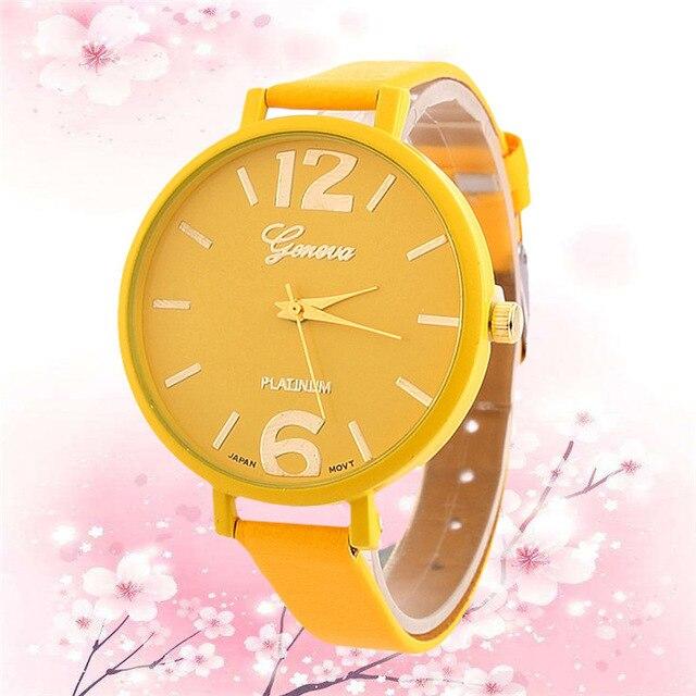 Fashion Women thin Bracelet Watch Famous brand Ladies Faux Leather Analog Quartz