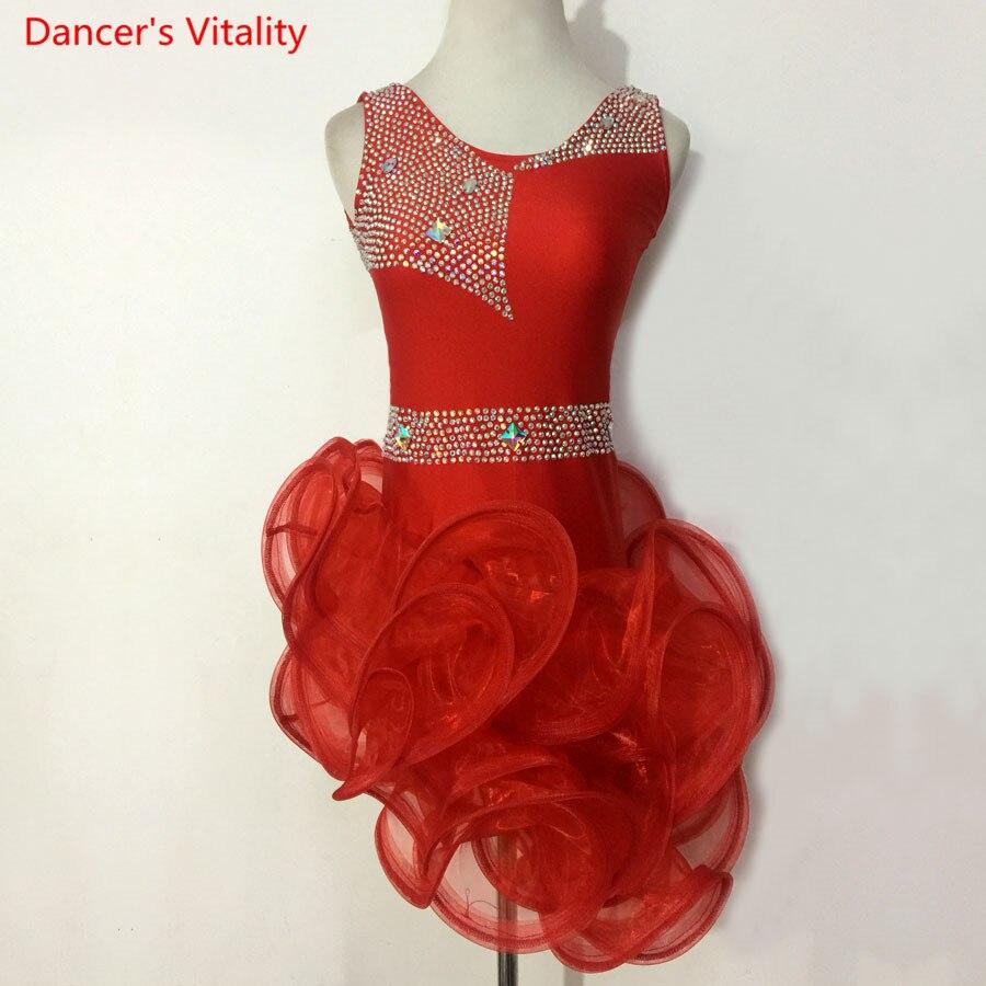 Child Kid Dress Children Professional Latin Dance Dress Women Girls Ballroom Competition Dresses Waltz tango Cha Cha Costumes