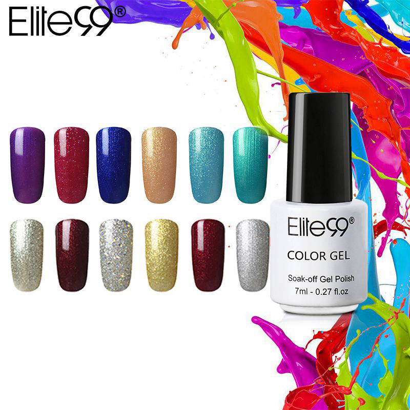 d105be936b Elite99 7 ml One Step Nail Polish Gel 3 in 1 UV LED Semi Permanent Long  Lasting Gel