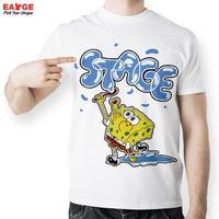 EATGE Anime Cartoon Sponge Bob Bubble T Shirt Funny Printed T Shirts Men Fashion Summer