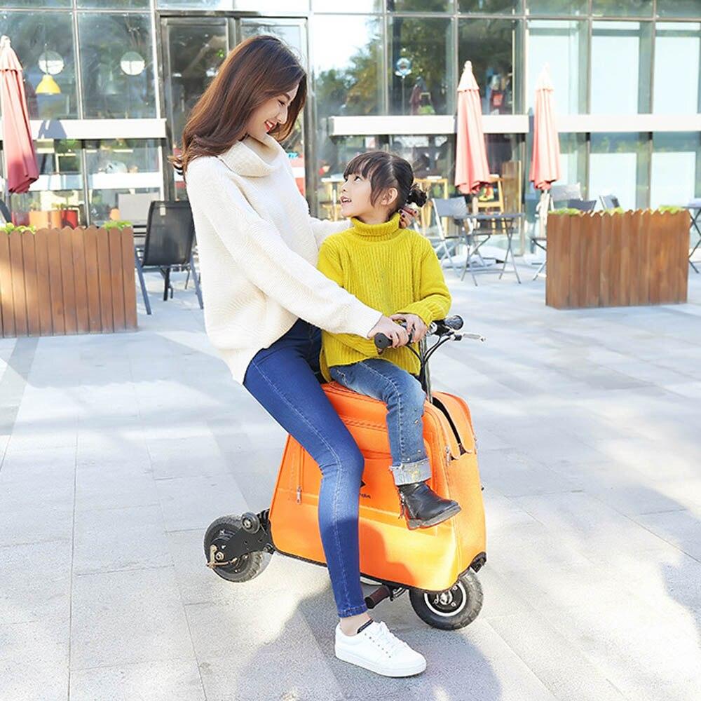 Rollschuhe, Skateboards Und Roller Faltbare Multifunktionale Roller Koffer Mit Handtasche Räder Für Flughafen Gepäck Elektrische Fahrrad Reise Business School