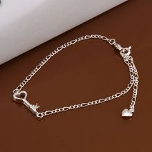 Anklet 10Inch 10″ Anklets Factory Price 925 jewelry silver plated Anklets Fashion Jewelry Solid Silver Anklet A024