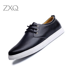 New Fashion Autumn Solid Color Men Shoes Leather Low Lace Up Men Flats Oxford Shoes For Men Driving Shoes Size 38-48