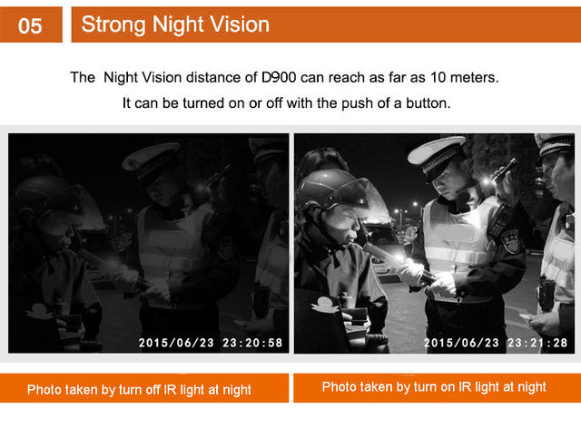 Free Shipping!HD 1080P Multi-functional Body Worn IR Night Vision 32GB Police Camera Body Camera