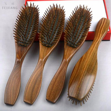 Natural Green Tan comb massage airbags comb sandalwood hair brush professional beauty salons massage health comb SY25D5