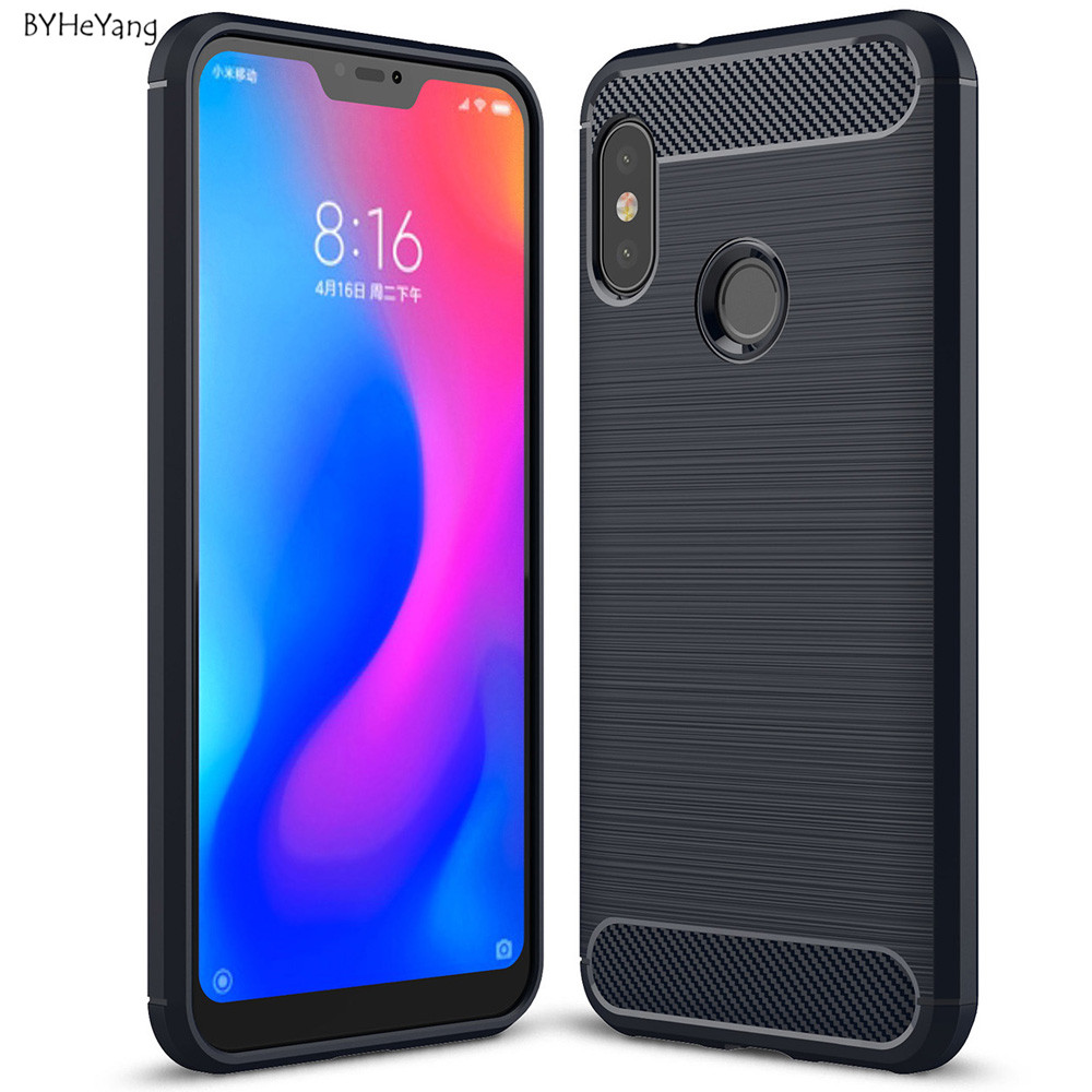 autentico dd9bb 748f3 US $2.46 7% OFF|For Xiaomi Mi A2 Lite Case MiA2 Lite Cover 5.84
