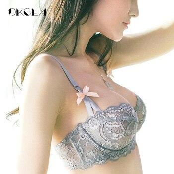 Горячий сексуальный бюстгальтер плюс Размеры 36 38 40 ультратонких нижнее белье Для женщин комплект белый кружевной бюстгальтер вышивка проз...