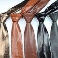 Moda Cuero de La Pu Hombres Patchwork Hembra lazo Corbata de Oro Plata Rojo Adulto Cravate Homme Del Banquete de Boda Corbatas Para Los Hombres